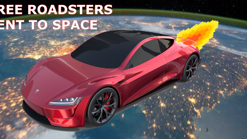 Free Roadsters will be picked up in Space