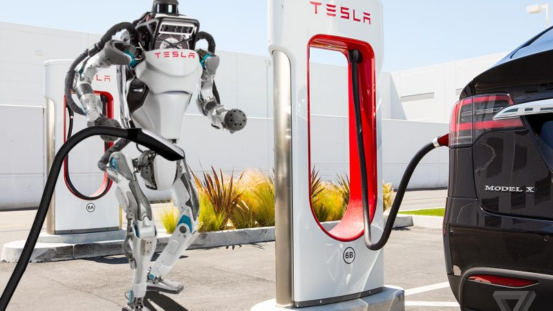 Tesla buys Boston Dynamics. New Supercharging attendants will be autonomous